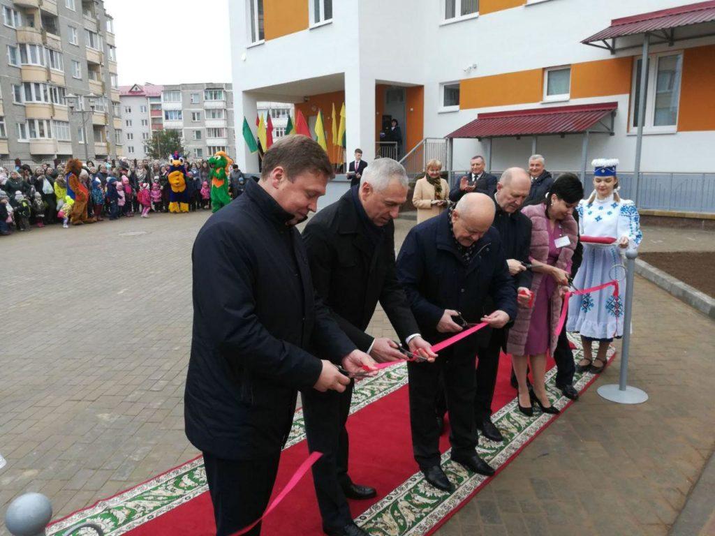 Новый детский сад на 230 мест сегодня торжественно открыли в Лиде.