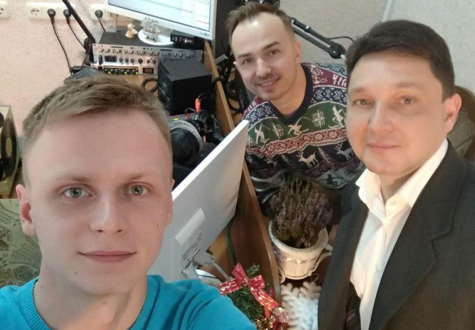 В гостях программы заместитель главного редактора Лидского телерадиообъединения Алексей Вадейко и теле- и радиоведущий Павел Болейшис