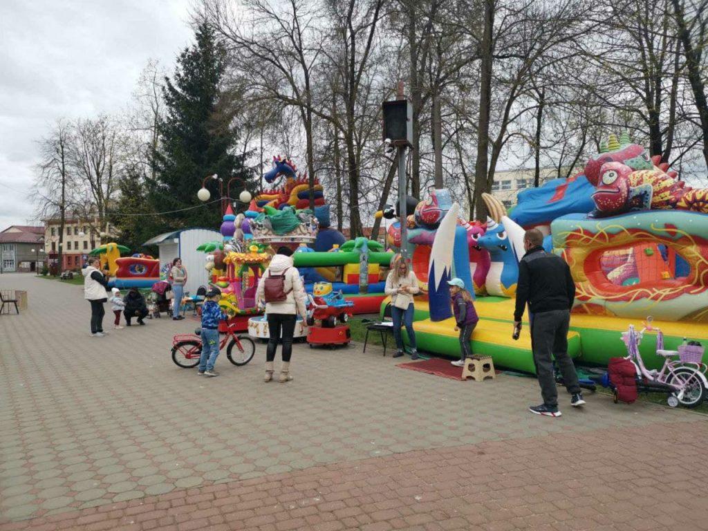 В Лиде 1 мая открылся сезон в городском парке культуры и отдыха.