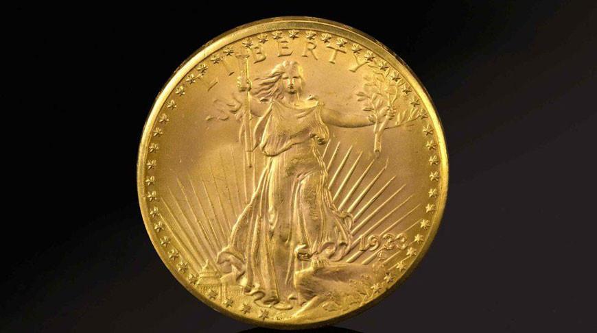 На аукционе Sotheby's в Нью-Йорке продали золотую монету США 1933 года за $18,9 млн