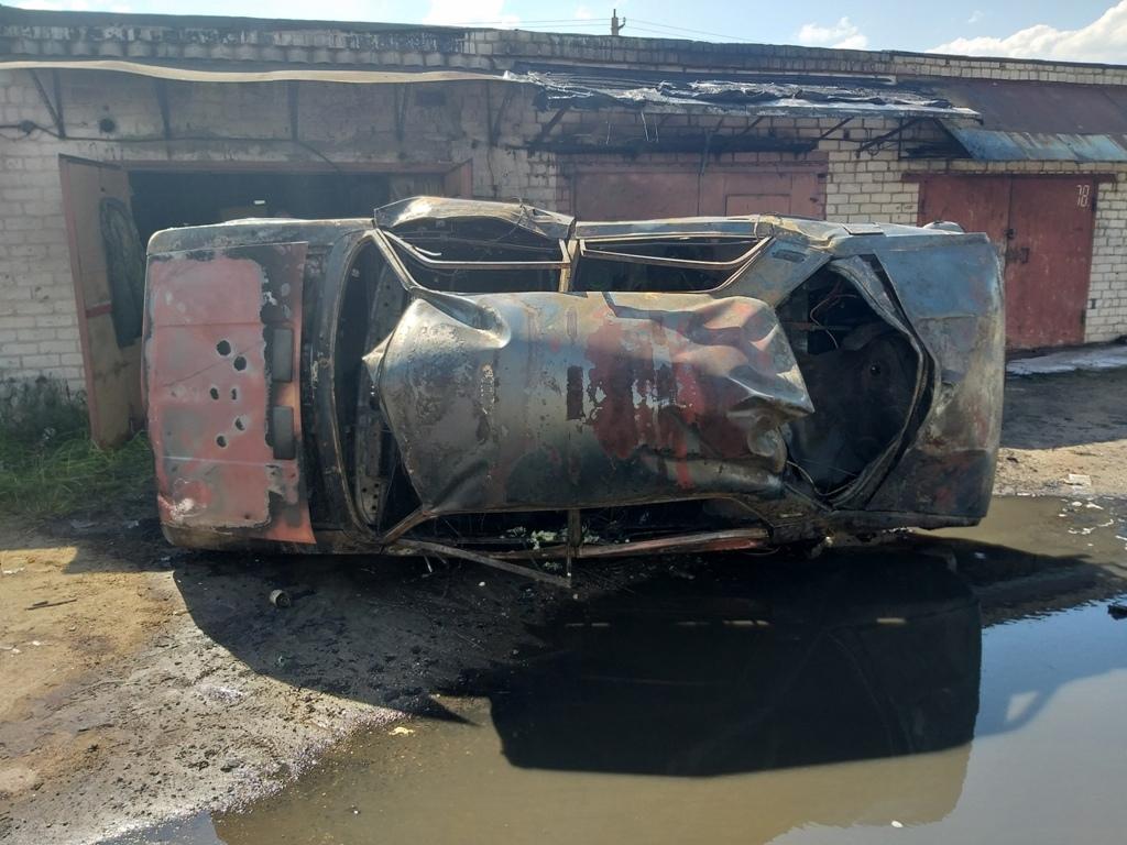 Легковой автомобиль ВАЗ 21011 горел вчера днем в Лиде