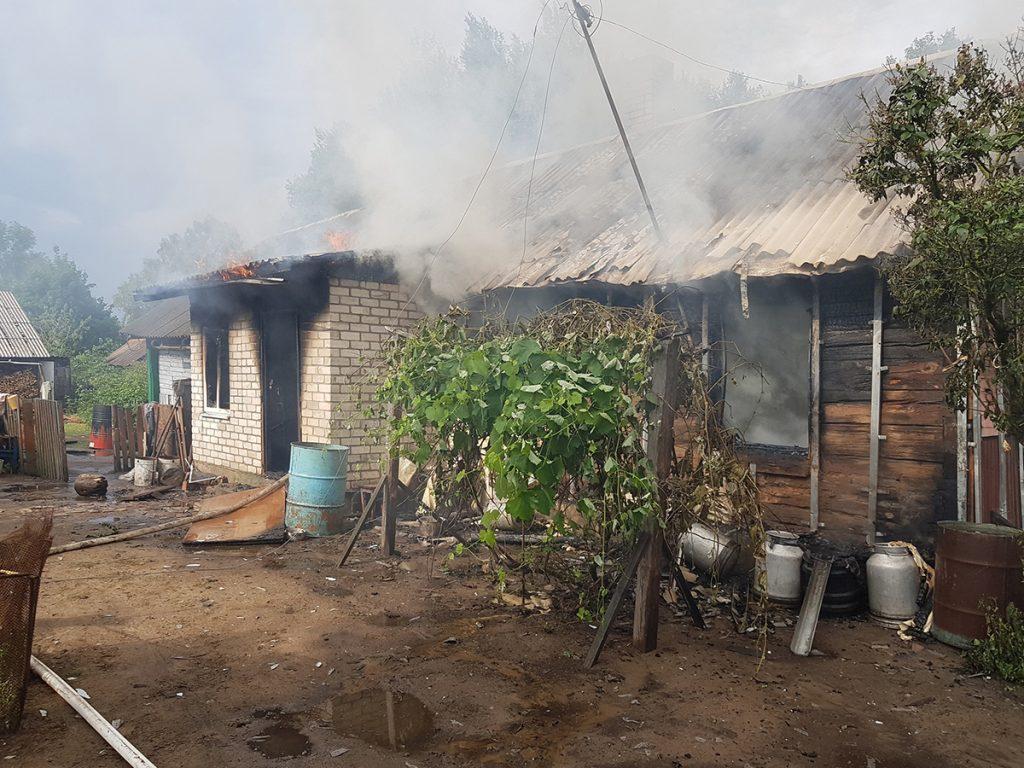 Огонь унес жизнь человека в Лидском районе.