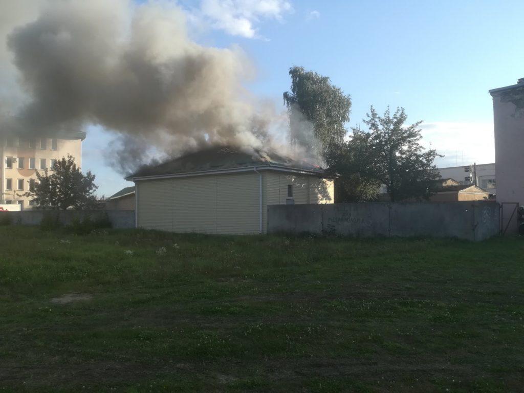 Трансформаторная подстанция горела в Лиде.